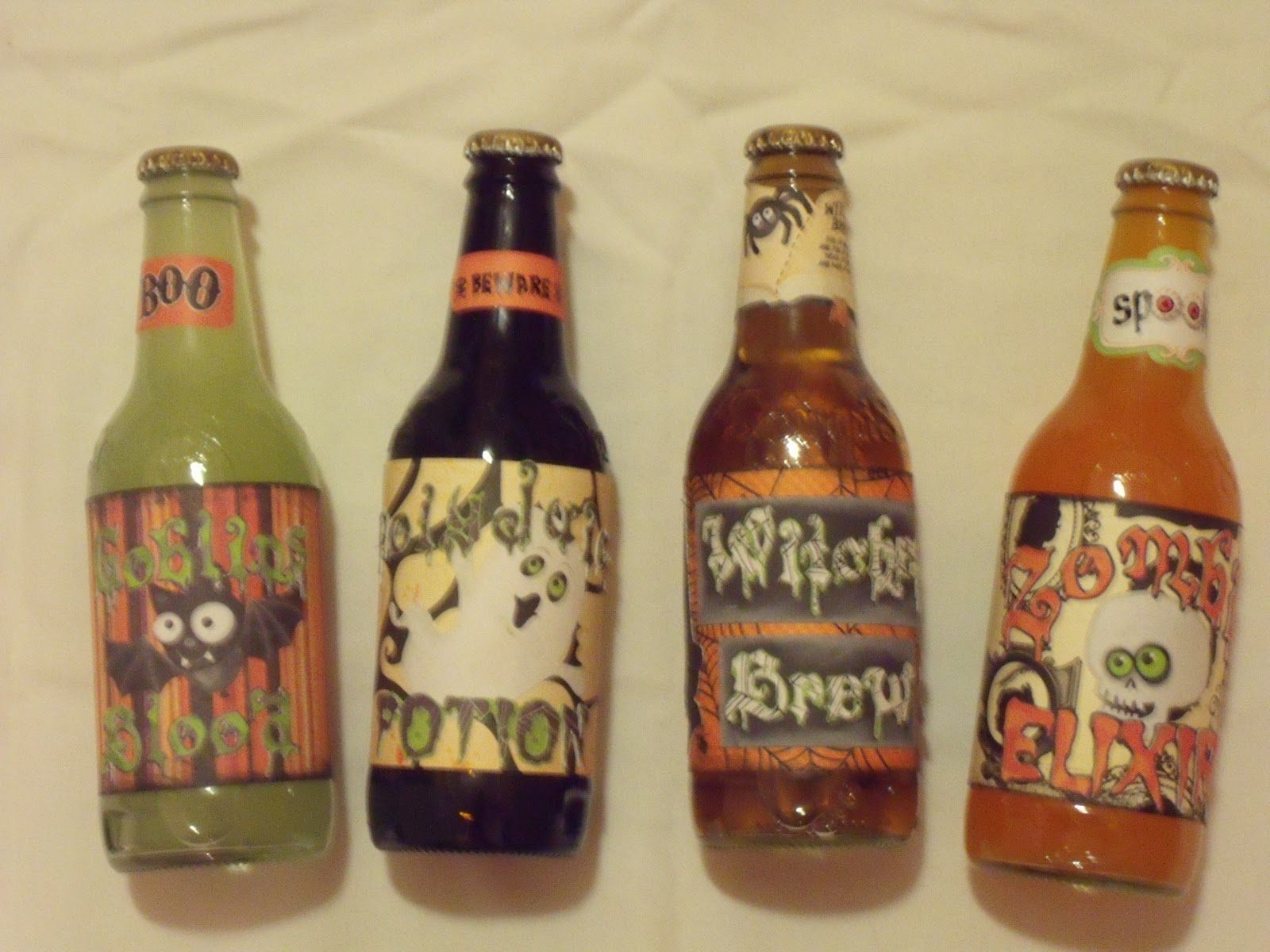 Card Makers Paradise Halloween Soda Bottle Labels