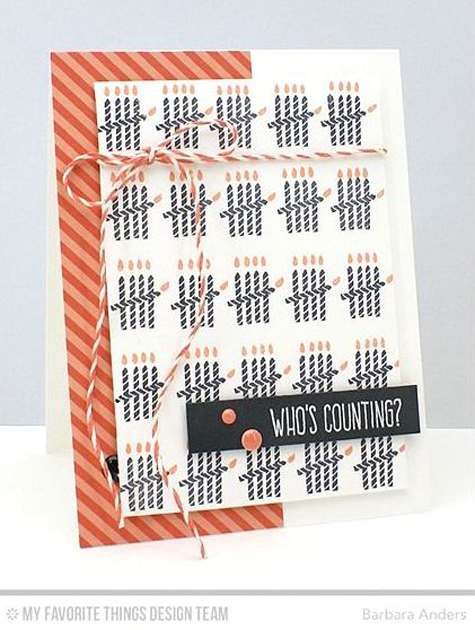 Who's Counting Card by Barbara Anders featuring Piece of Cake stamp set #mftstamps