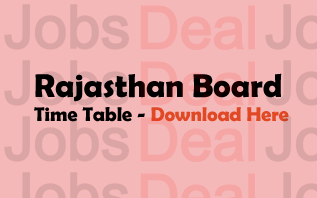 Rajasthan Board Time Table 2017