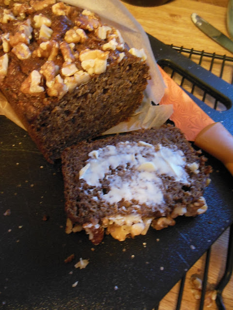 Healthy fruit only quick bread, ready to slice and eat.