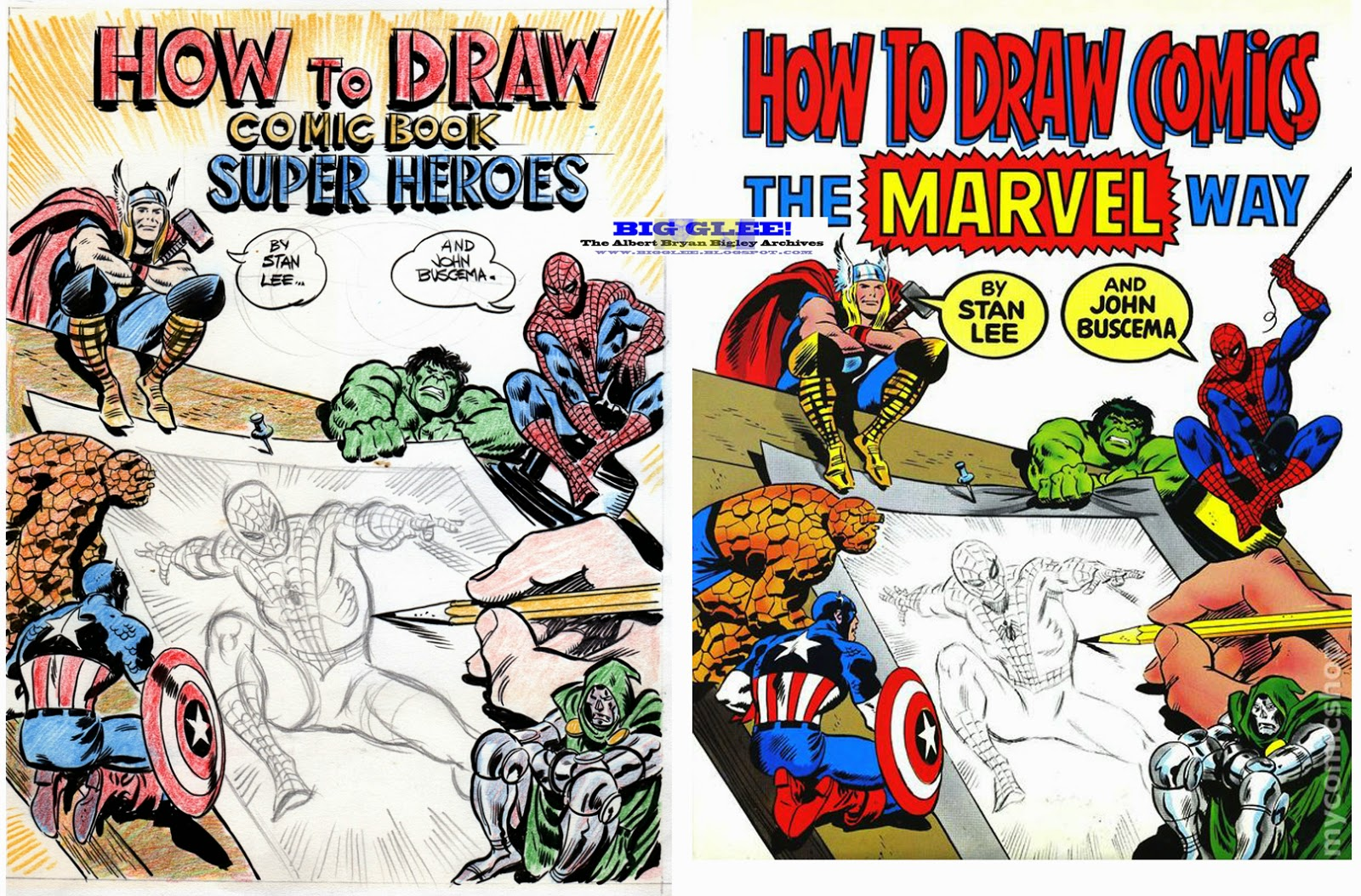 How To Make A Comic Book Cover ~ Big glee the albert bryan bigley archives