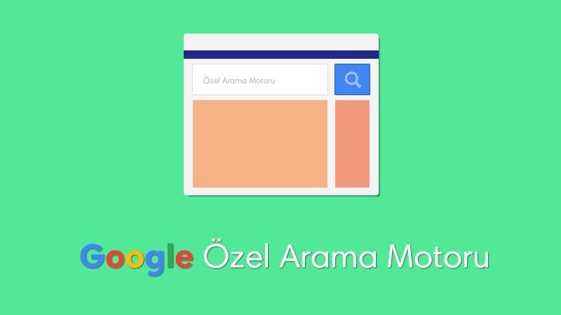 Blogger Google Özel Arama Motoru Oluşturma