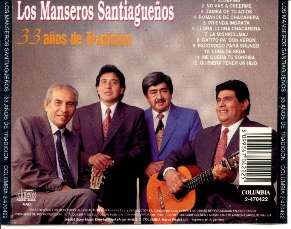 manseros santiagueños 33 años de tradicion disco