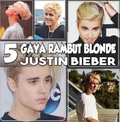 gaya rambut pirang justin bieber_9870021