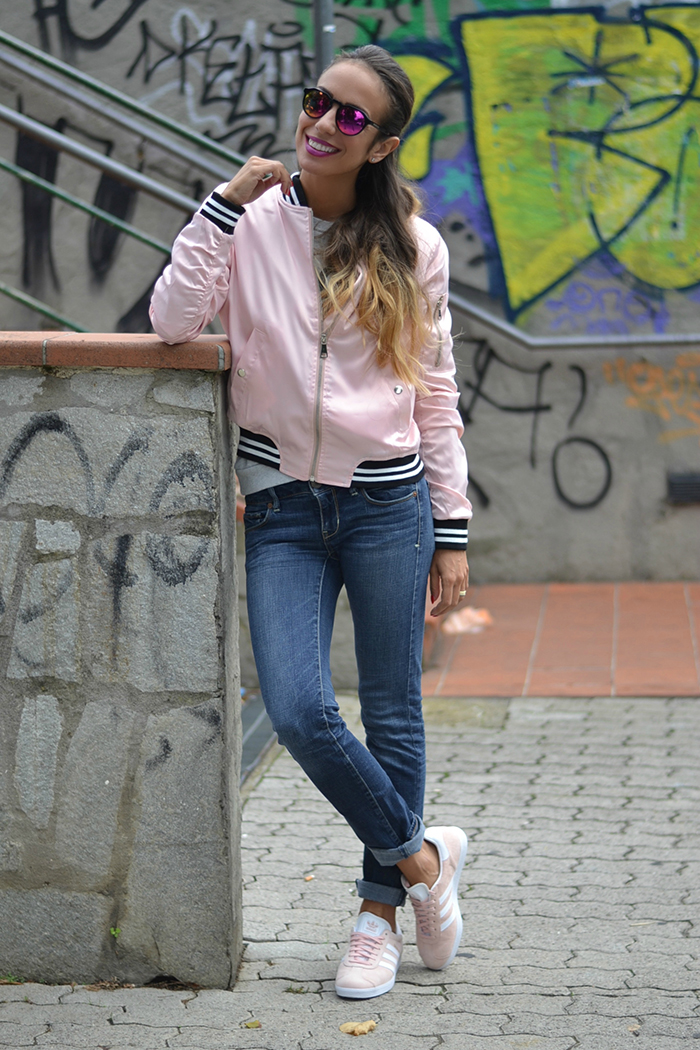 adidas rosas outfit