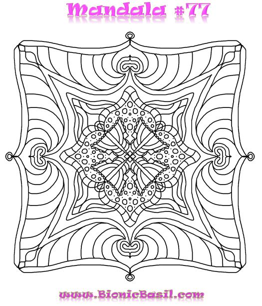 Mandalas on Monday #76 @BionicBasil Colouring With Cats Downloadable Picture free coloring free picture