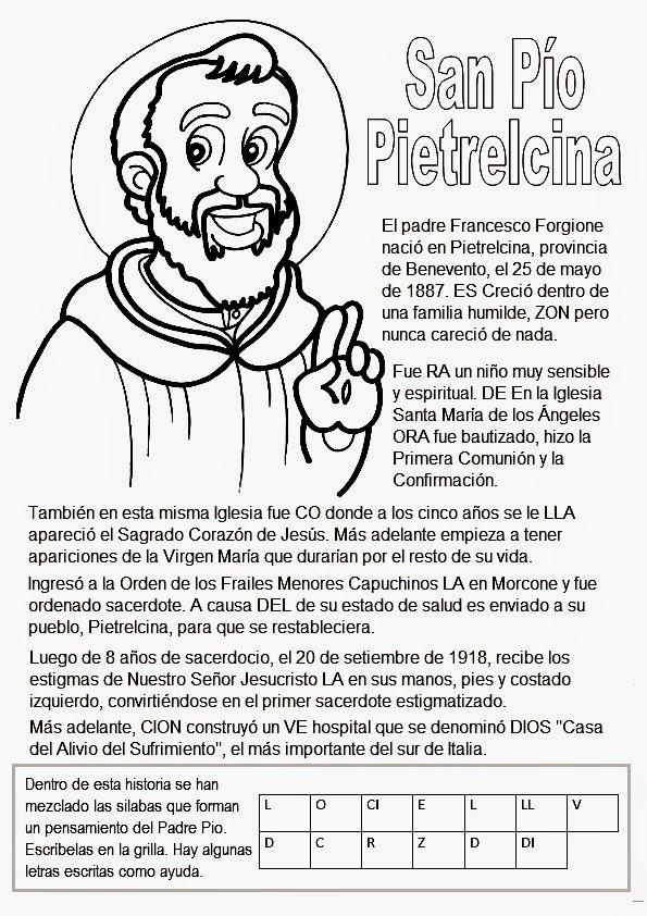 La Catequesis (El blog de Sandra): Recursos Catequesis San Padre Pío ...