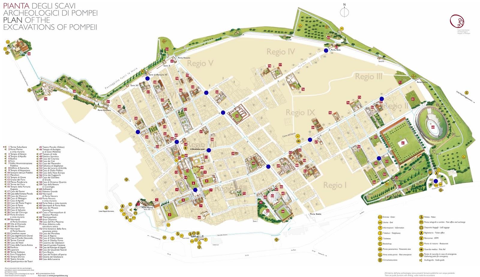 Ruinas De Pompeya Mapa.Guia De Pompeya Que Ver Y Hacer Y Como Llegar