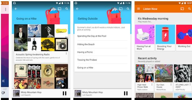 تحميل برنامج مشغل الاغاني للاندرويد Google Play Music