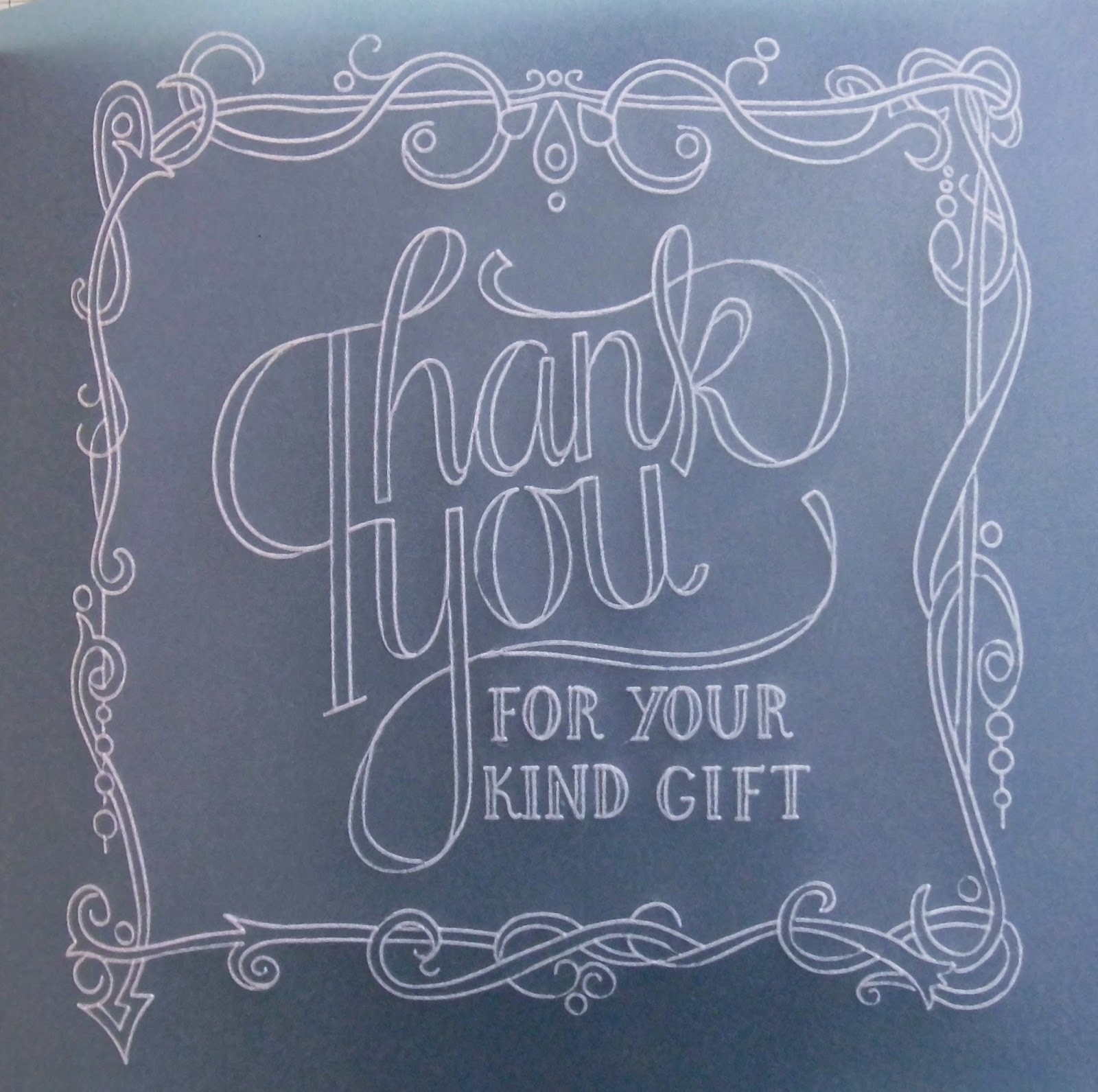 Sarah S Craft Shed Parchment Thank You White Work Practice