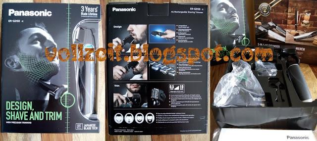 Man Exklusiv Panasonic Rasierer Shaver Trimmer Styler Bartstyler Design Bart