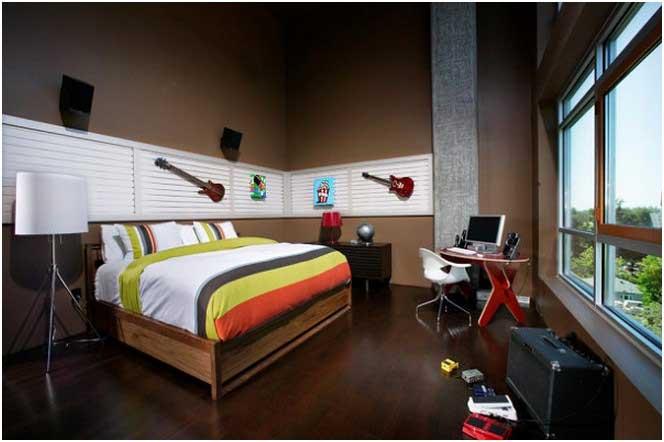 Jugendlich Schlafzimmerideen  Kühlen Jungenraumschreibtisch Kreative Wanddekoration