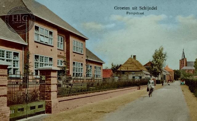 Ingekleurde foto Schijndel Pompstraat (Gemeente Meierijstad)