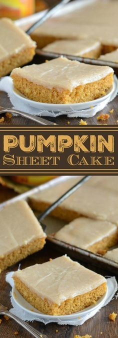 Best Pumpkin Sheet Cake #pumpkin #sheetcake #cakes #desserts