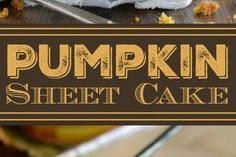 Best Pumpkin Sheet Cake #pumpkin #sheetcake #cakes #desserts