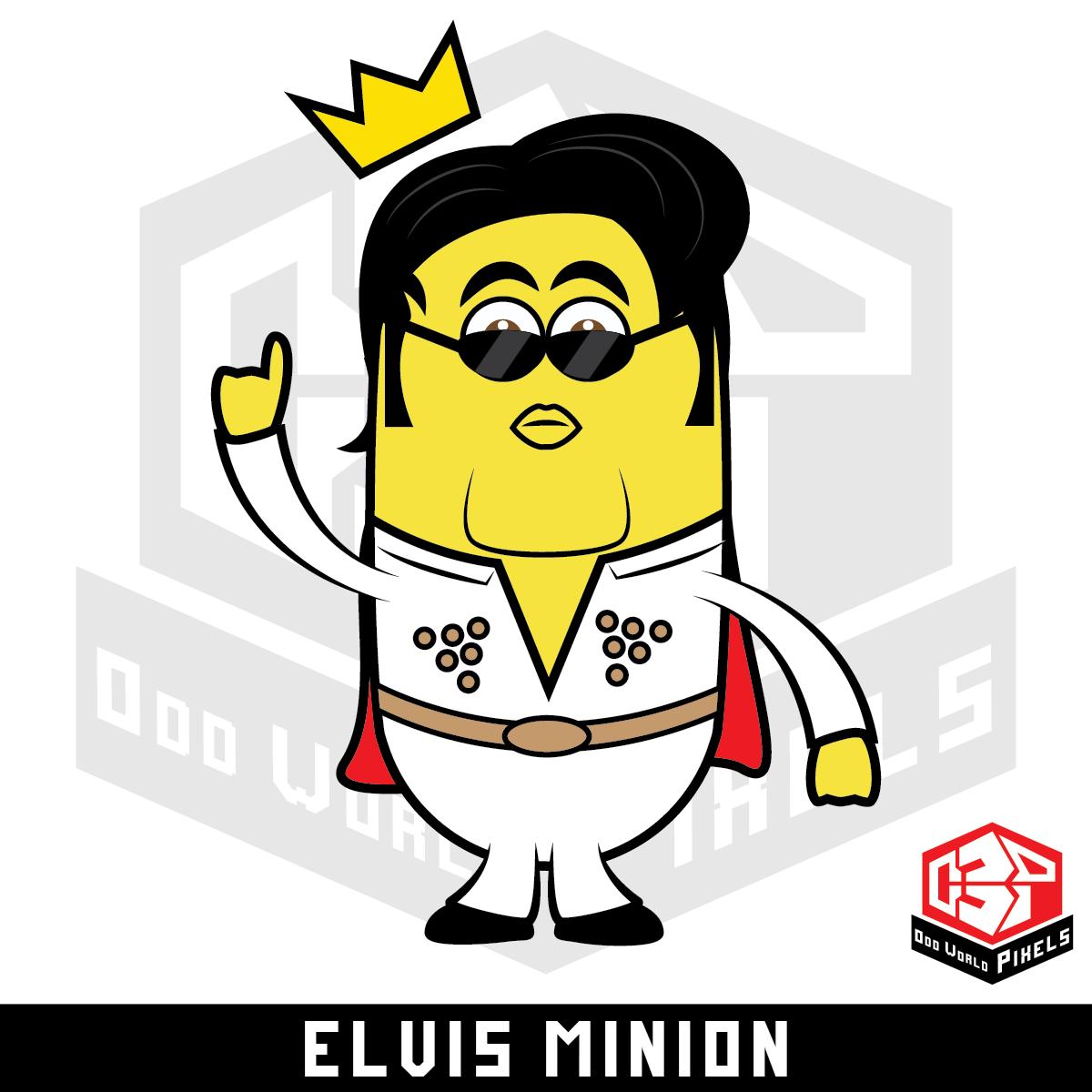 Odd World Pixels Fairly Odd Elvis Minion