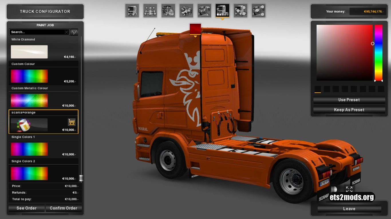 Highline Skin Pack for Scania RJL