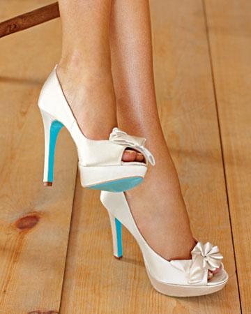 Uk White Wedding Shoes Blue Sole