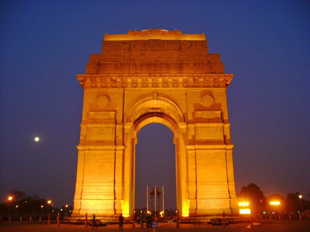 wallpaper night india gate delhi tourism