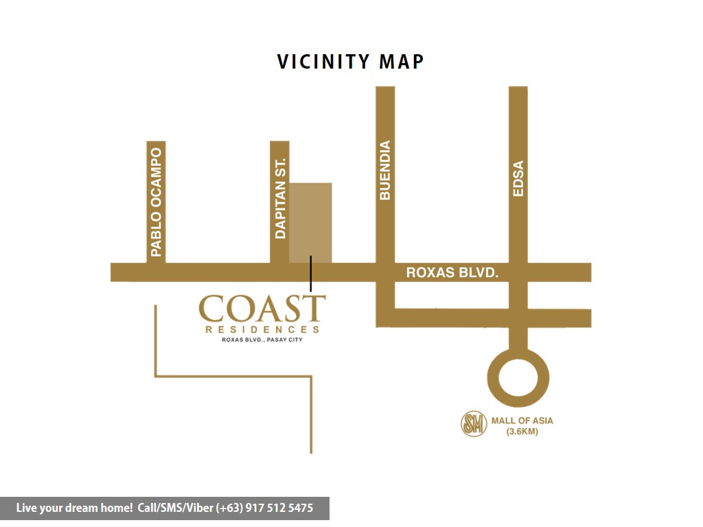 Vicinity Map - SMDC Coast Residences - 1 Bedroom Unit With Den | Condominium for Sale Roxas Boulevard Pasay