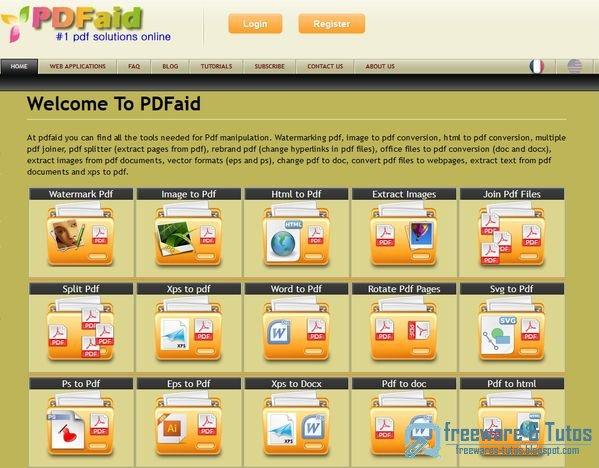 PDFaid : une boite à outils pour le PDF en ligne