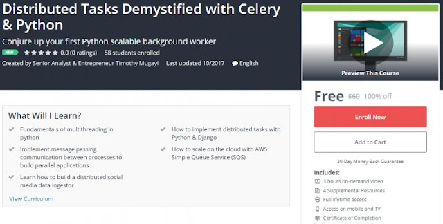[100% Off] Distributed Tasks Demystified with Celery & Python| Worth 60$
