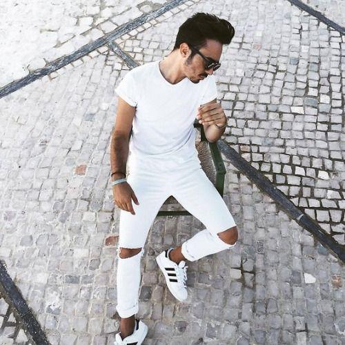 Como usar Calça Branca Homem Masculina com