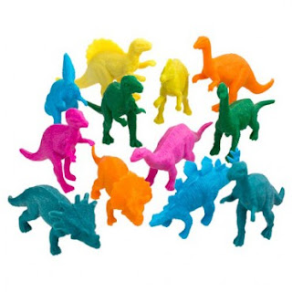 Small plastic dinosaurs