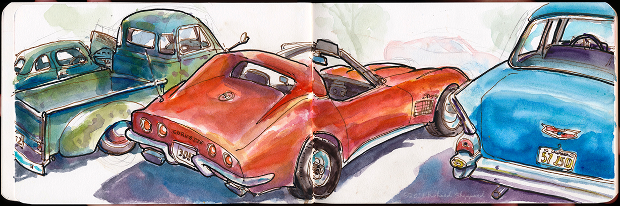 Urban Sketchers SF Bay Area Antique Car Show In Cloverdale - Car show sf bay area