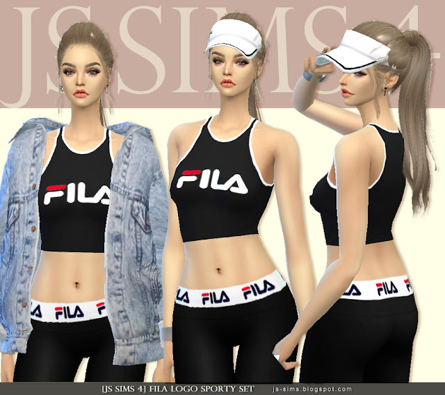 [JS SIMS 4] Fila Logo Sporty Set