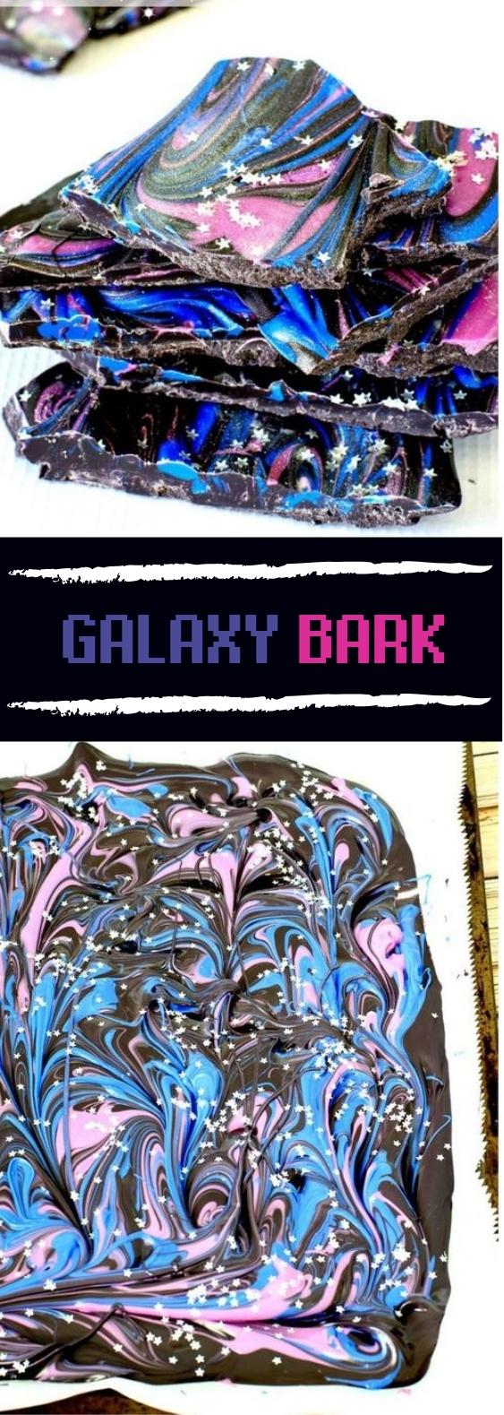 Galaxy Bark #galaxy #desserts