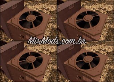 gta sa mod ar condicionado com animação girando