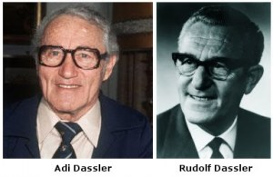 Adolf e Rudolf Dassler, fondatori dell'Adidas e della Puma a