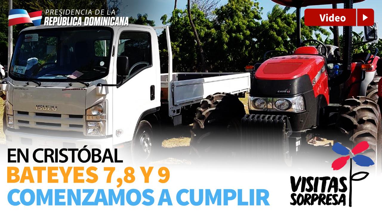 VIDEO: A cuatro días de Visita Sorpresa: productores de Cristóbal reciben tractor, camión y ayuda