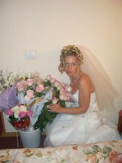 fotos recién casada lencería