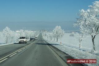 Cesta zimou k Protivínu