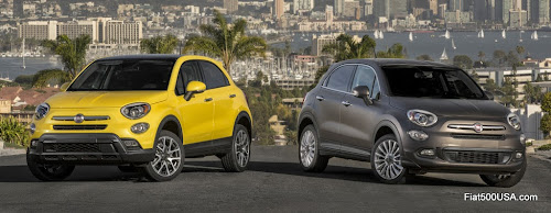 North American Fiat 500X Lounge and Trekking Plus