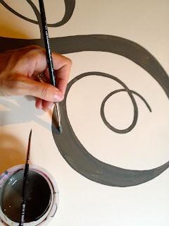 handpainting large monogram letter