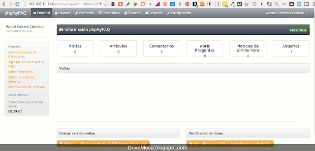 DriveMeca instalando phpMyFAQ en un servidor Linux Centos paso a paso