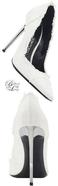 Brilliant Luxury ♦ Tom Ford bleaches denim pumps #white