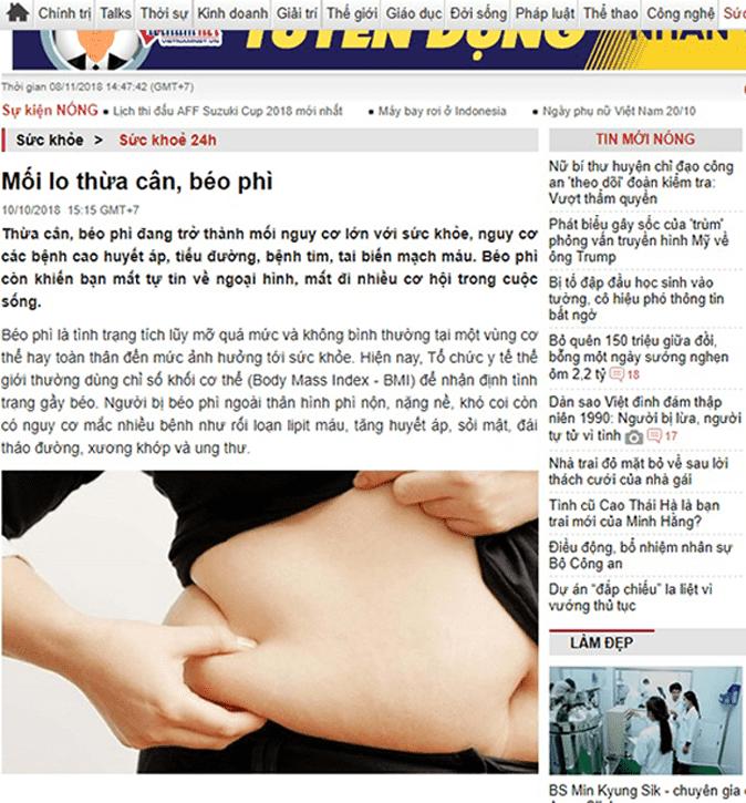 báo chí nói gì vrrf viên giảm cân hoa bảo