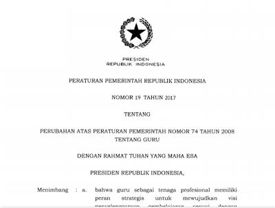 Hasil gambar untuk Peraturan Pemerintah (PP) Nomor 19 tentang Perubahan Nomor 74 tahun 2008