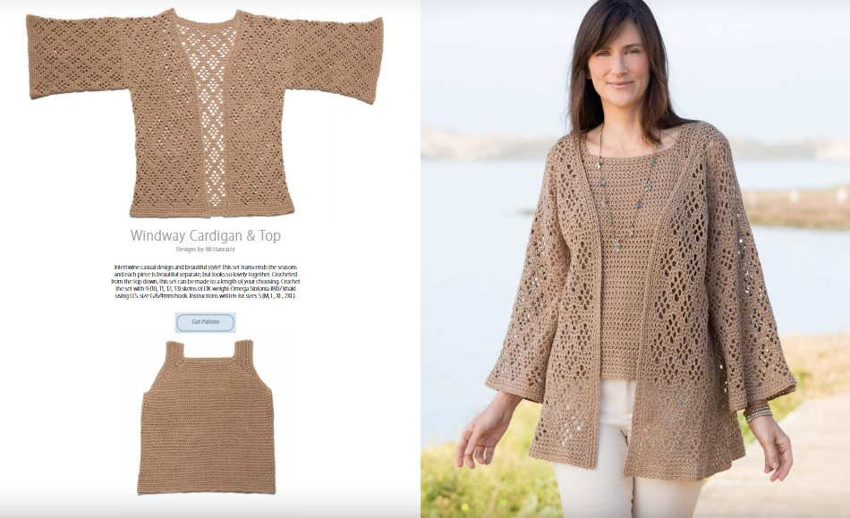 Windway Cardigan and Top Crochet Pattern