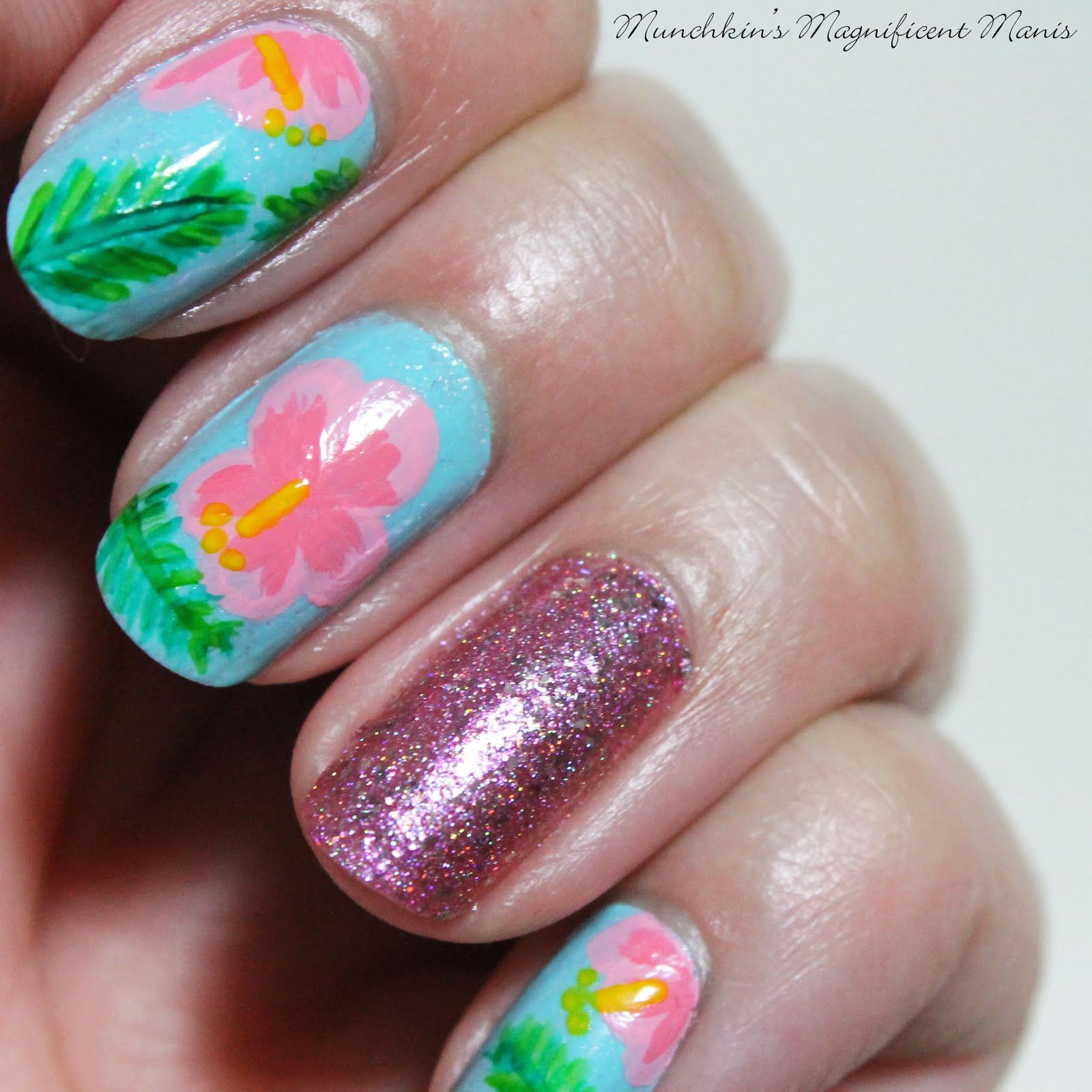 Munchkins Magnificent Manis: Aloha Flowers