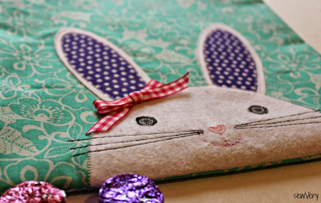 Bunny Face Bag with bow for girl