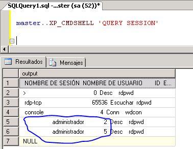 Windows xp session id