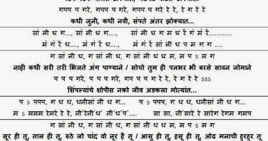 musicalnotations: Tik Tik vajate dokyat notations -Movie: Duniyadaar