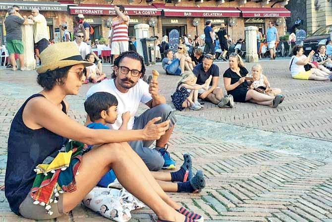 Aamir Khan Spends Time with Family on a Vacation In Italy