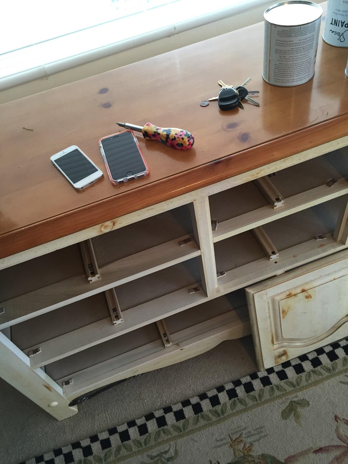 dresser before chalk paint