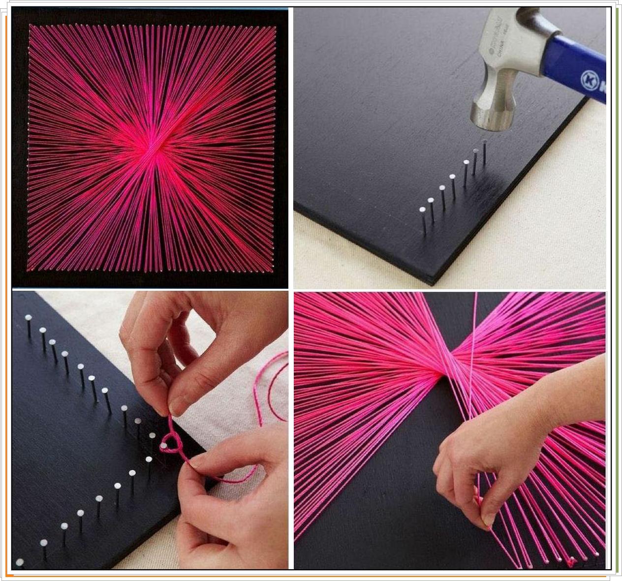 Enrhedando manualidades for Como colgar un cuadro